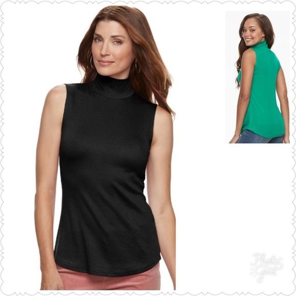 Women/'s Mockneck Size  XL-XXL By Croft/&Barrow NWT